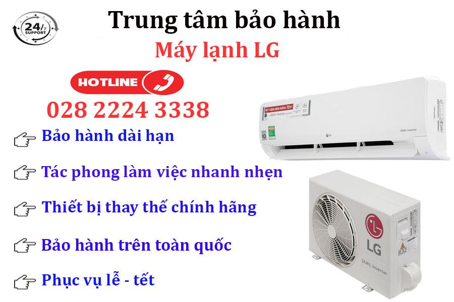 Dịch vụ bảo trì, sửa máy lạnh LG chính hãng toàn quốc